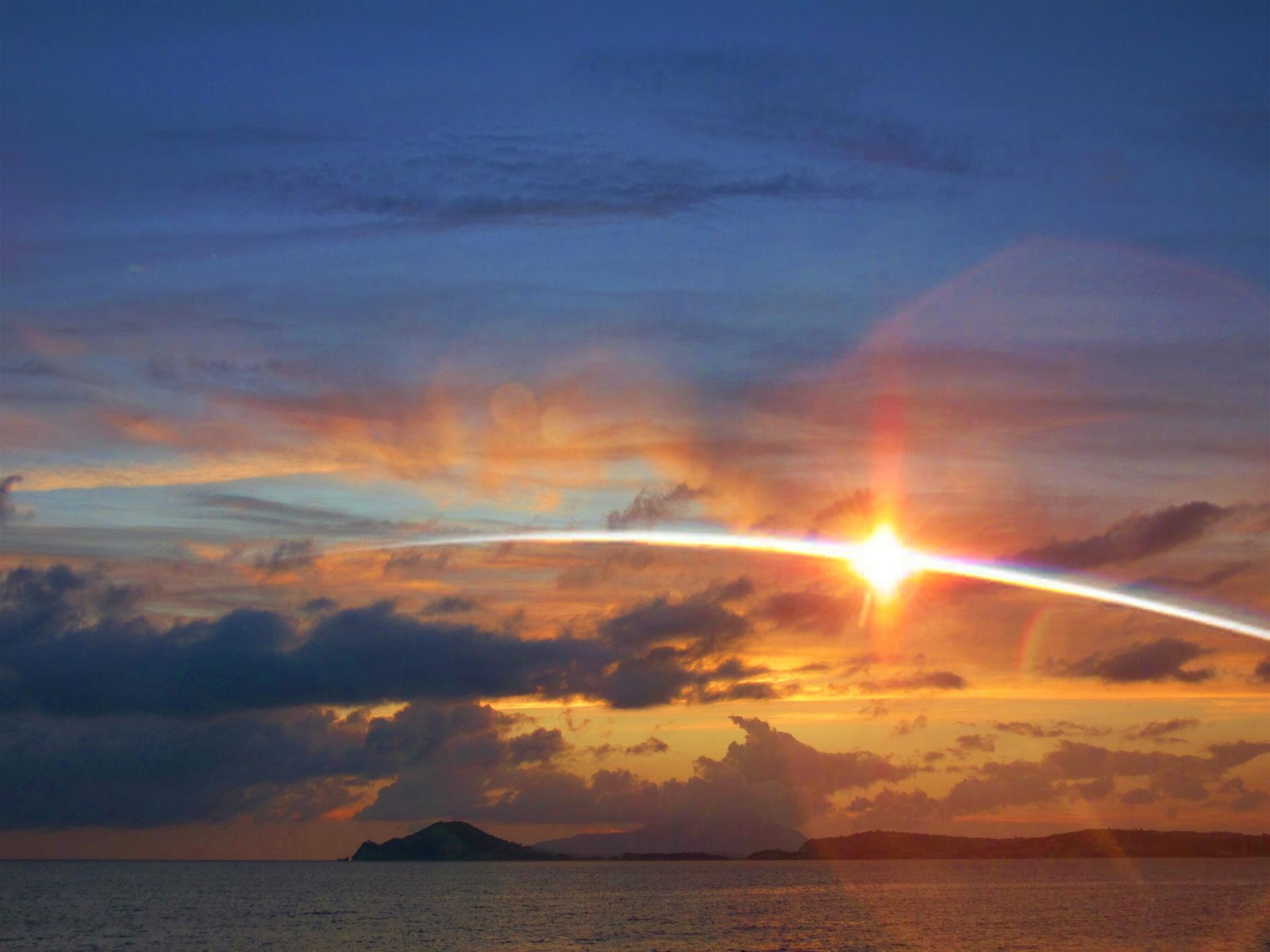 Sunset over Bagnoli ( Naples - Italy ).
