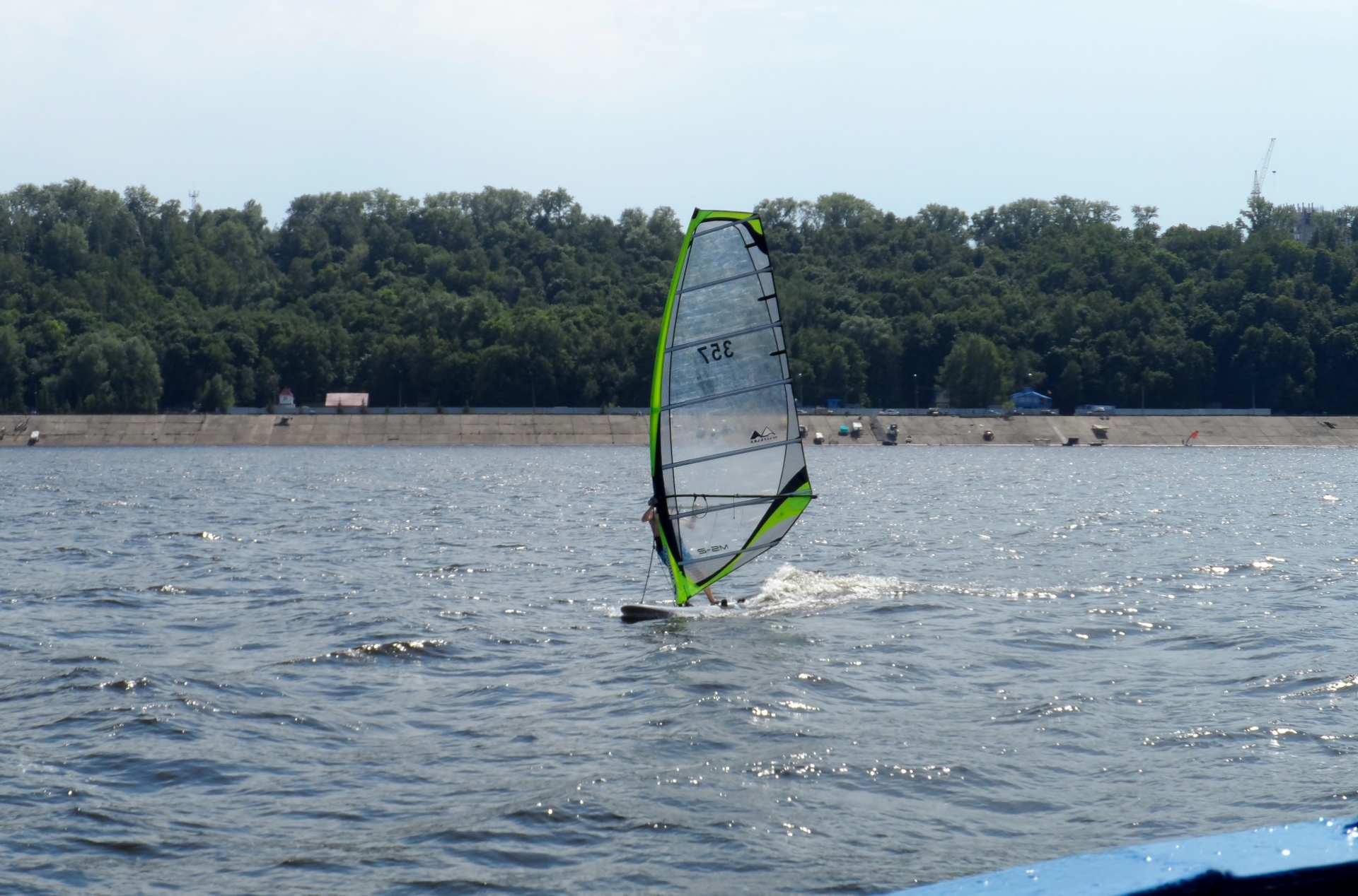 Windsurfing on sailing and water sports