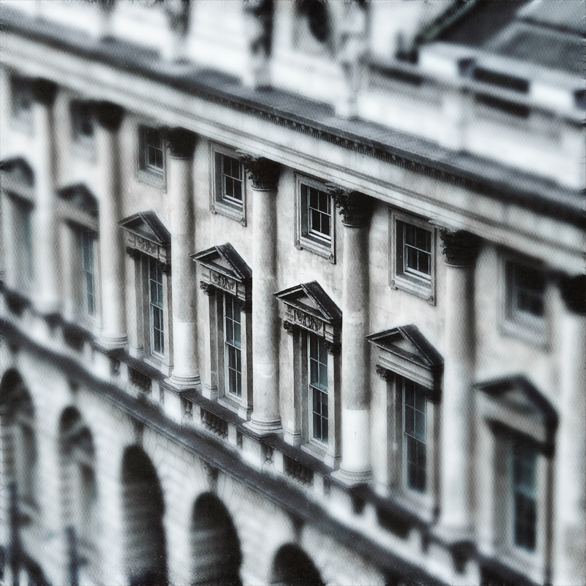 London architecture  | mezmic, no person, monochrome, building
