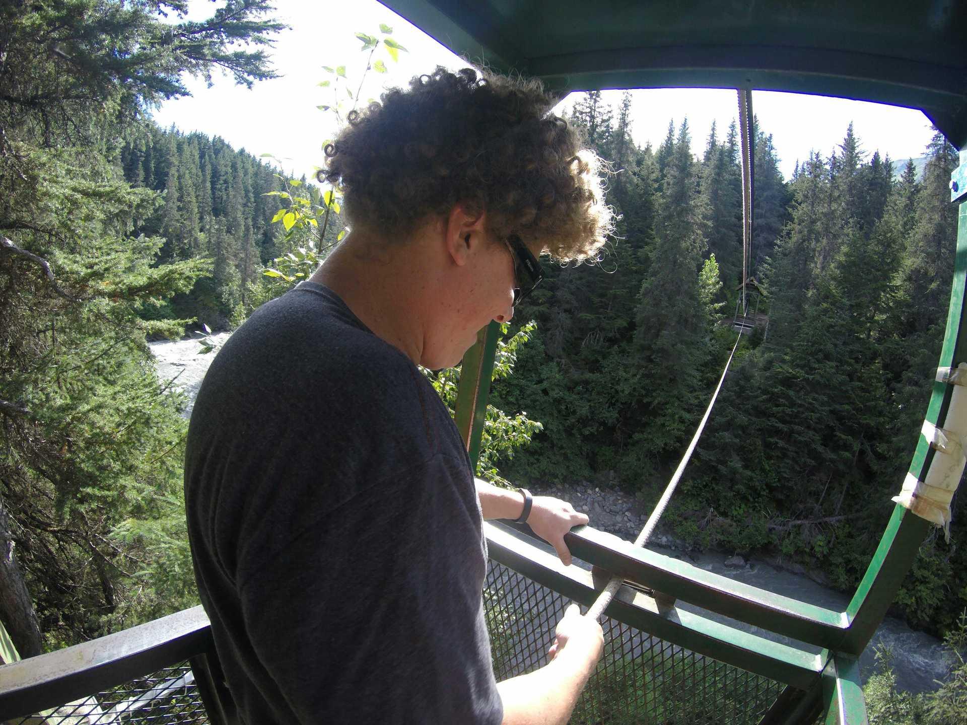 Crossing the Winner Creek Gorge