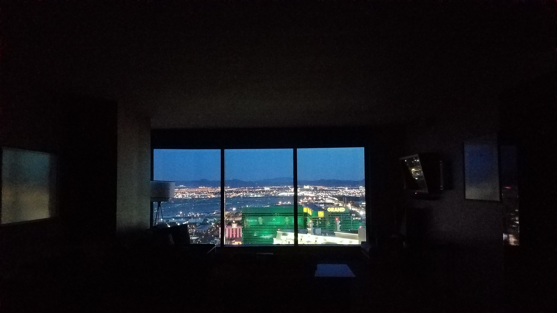 Las Vegas from the inside of a hotel s
