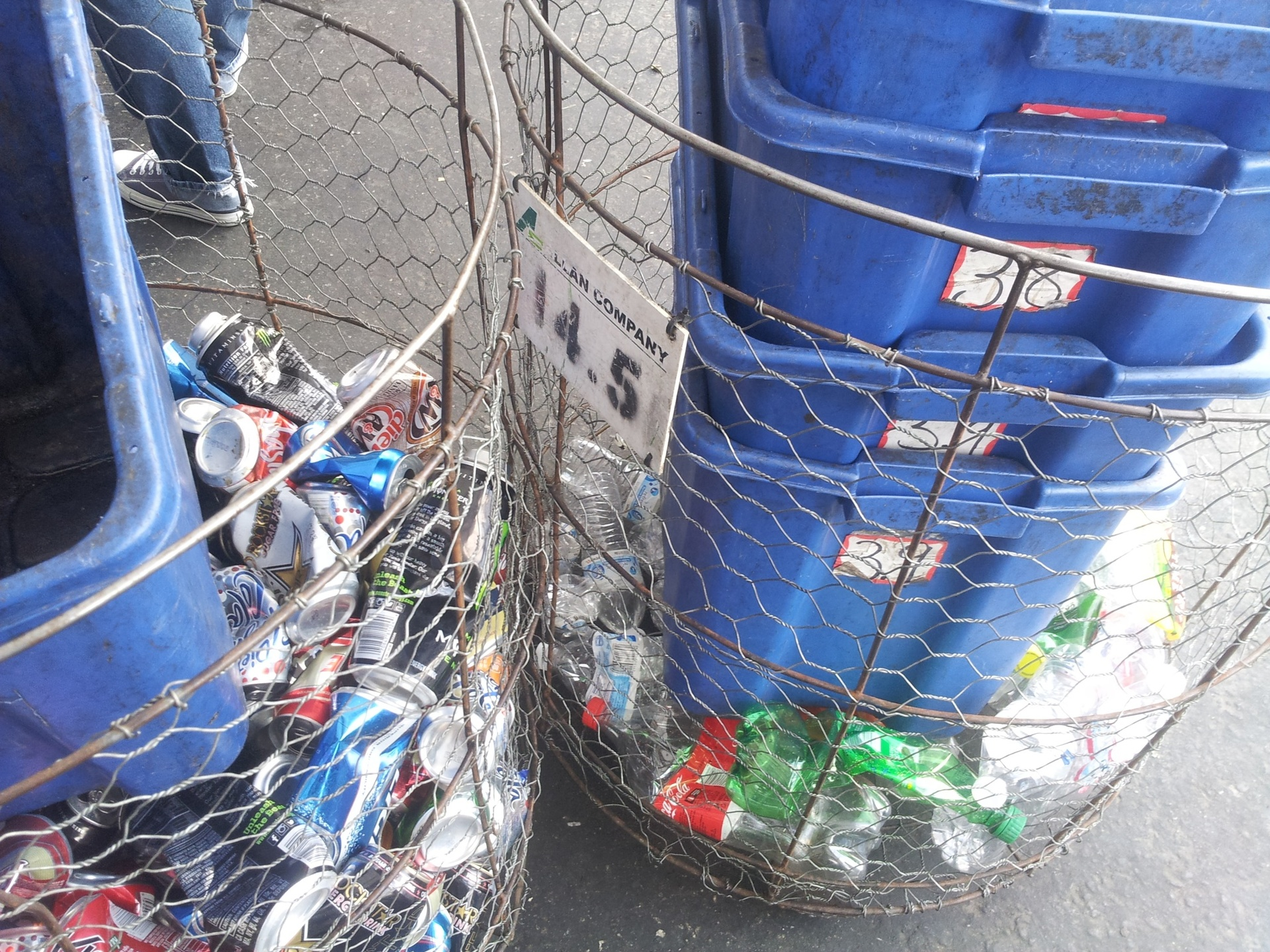 Taking in the recycling: Bottles, cans, etc
