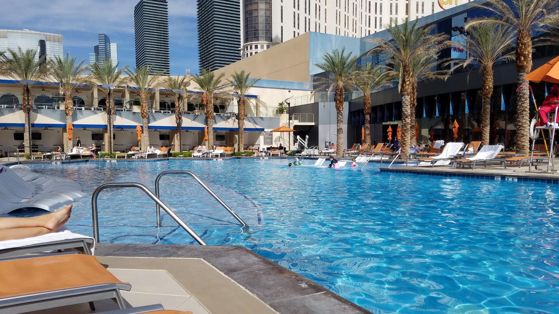 swimming pool at Hilton Elara Las Vegas