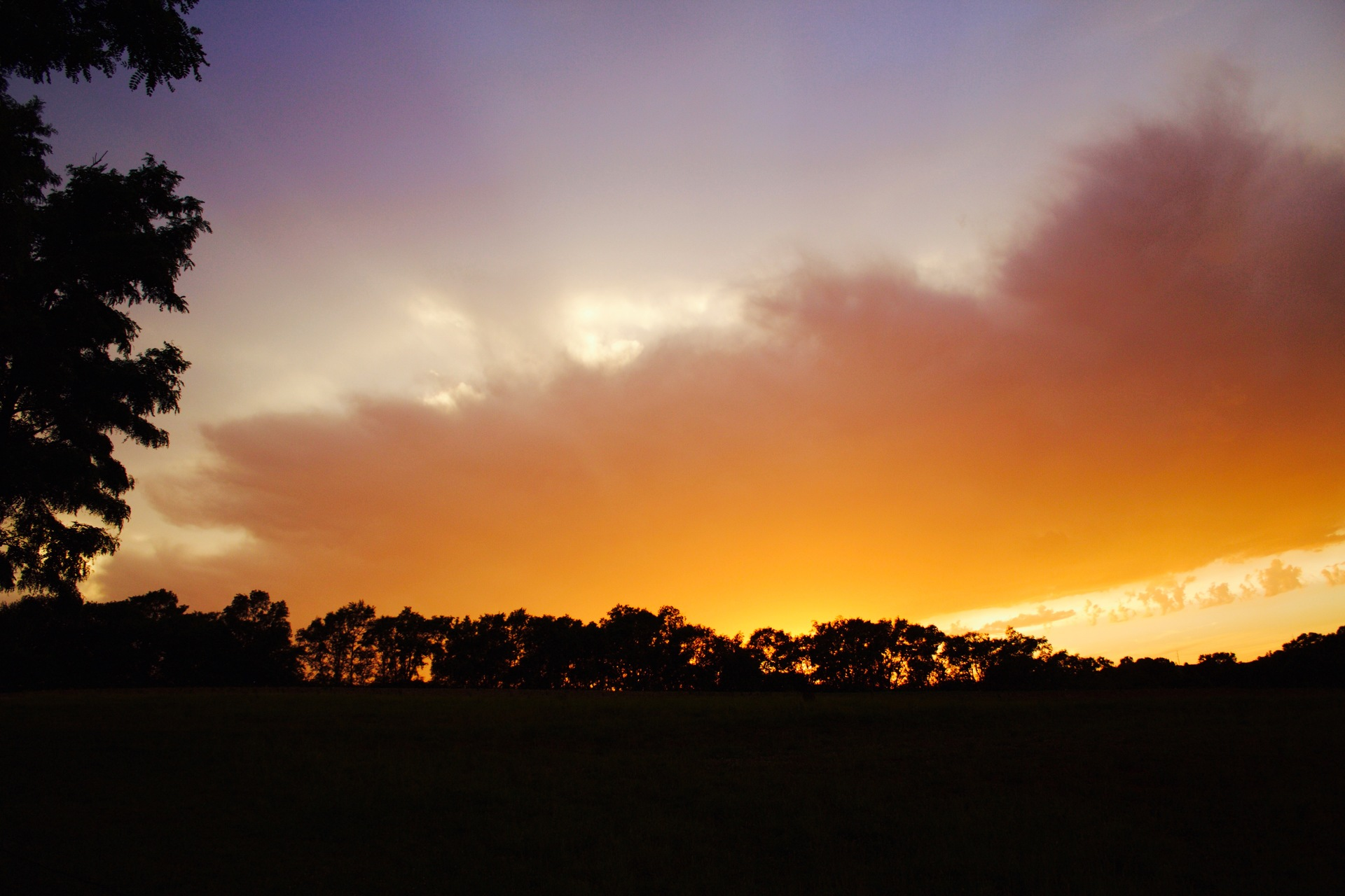 Orange Color Story - sunset before a storm