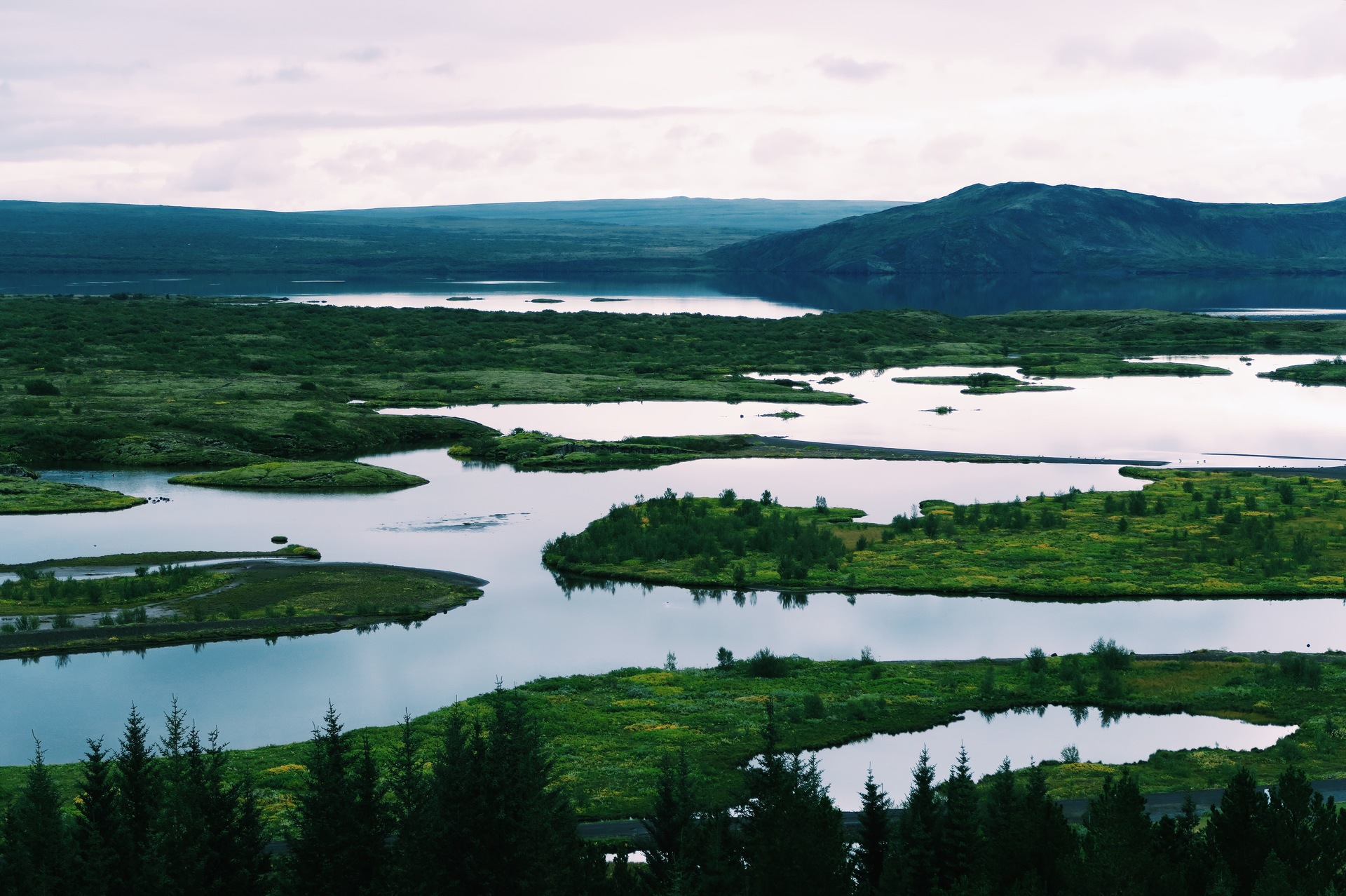 Scenic view of landscape | nature, iceland, water, spring