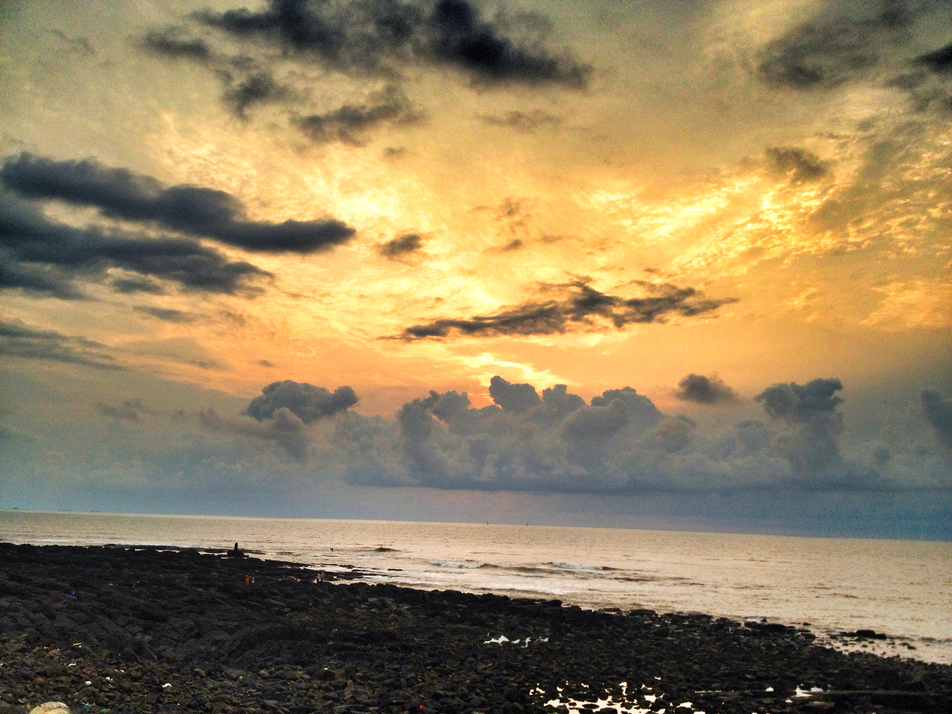 sunset clouds dusk india by neenzin