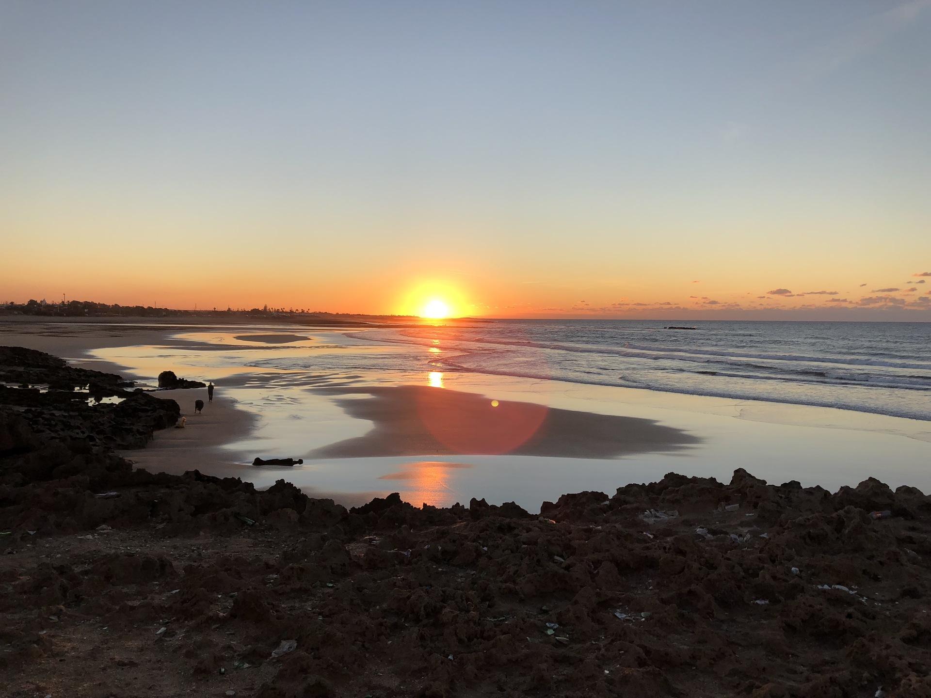 Sunset beach Morocco  | boubouh, sunset, water, dawn