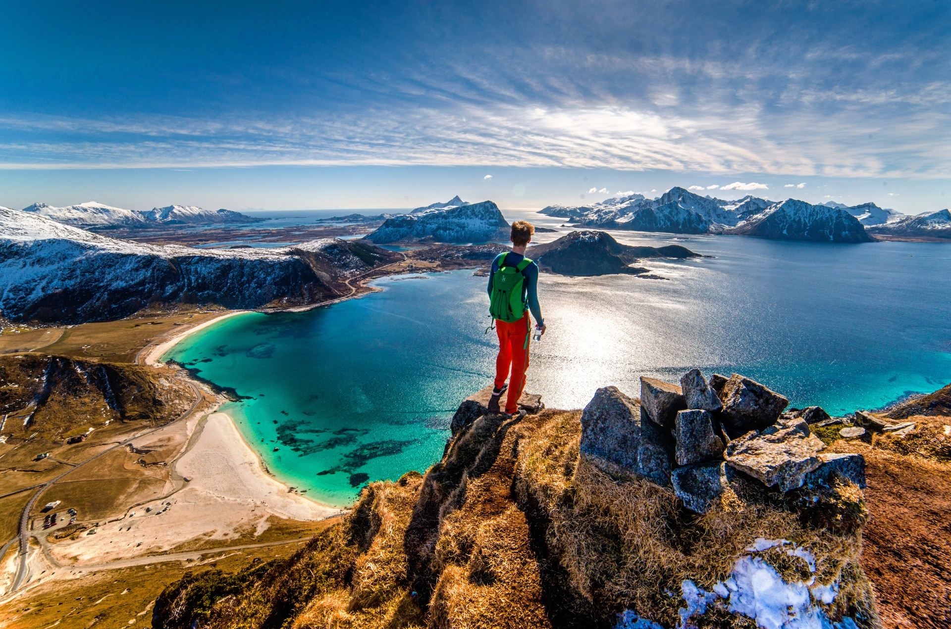 a perfect view   andreas.wolden, lake, landscape, mountain