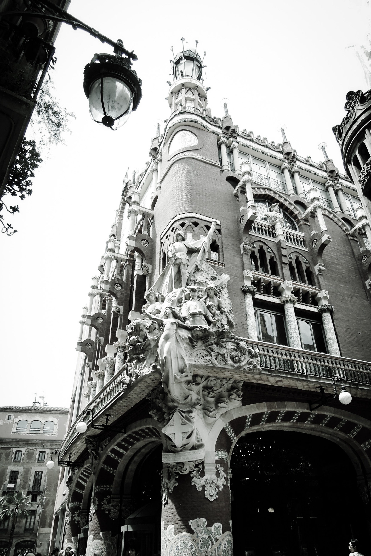Modernisme architecture . Paseo por Barcelona