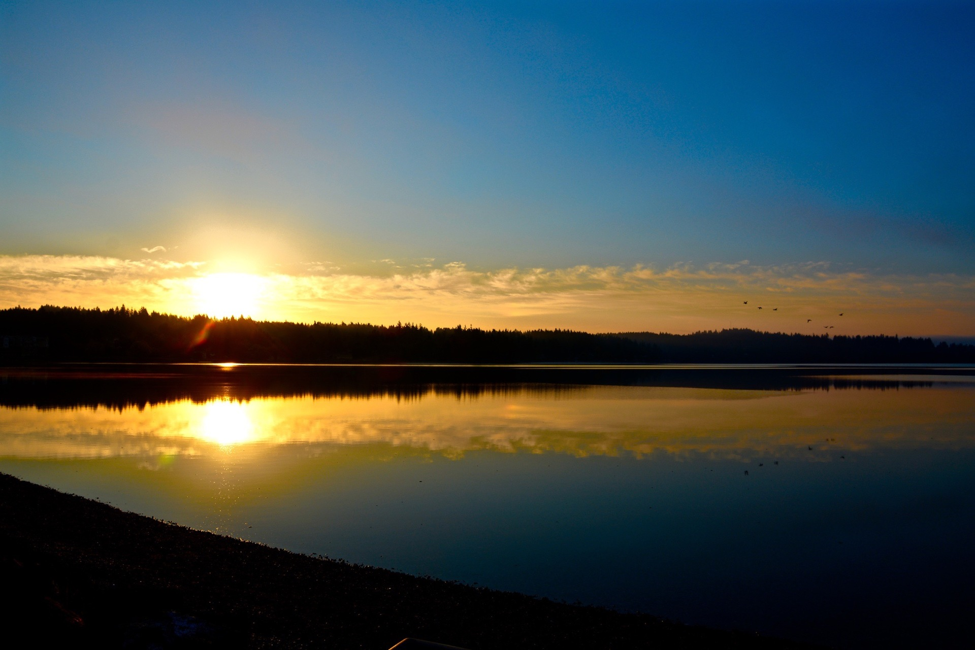 Pacific Northwest sunset | mbocast, dusk, evening, lake
