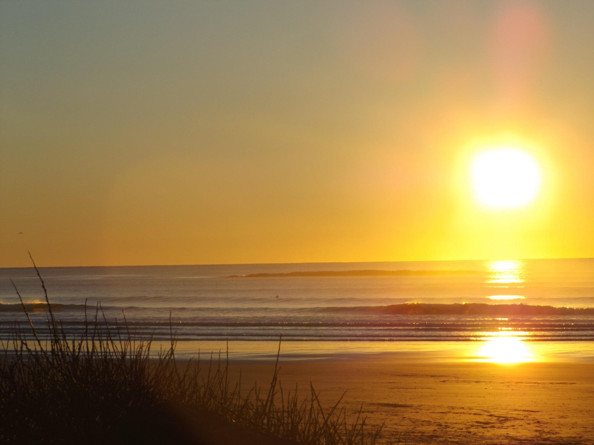 Sunset  | water, sunset, sun, sky