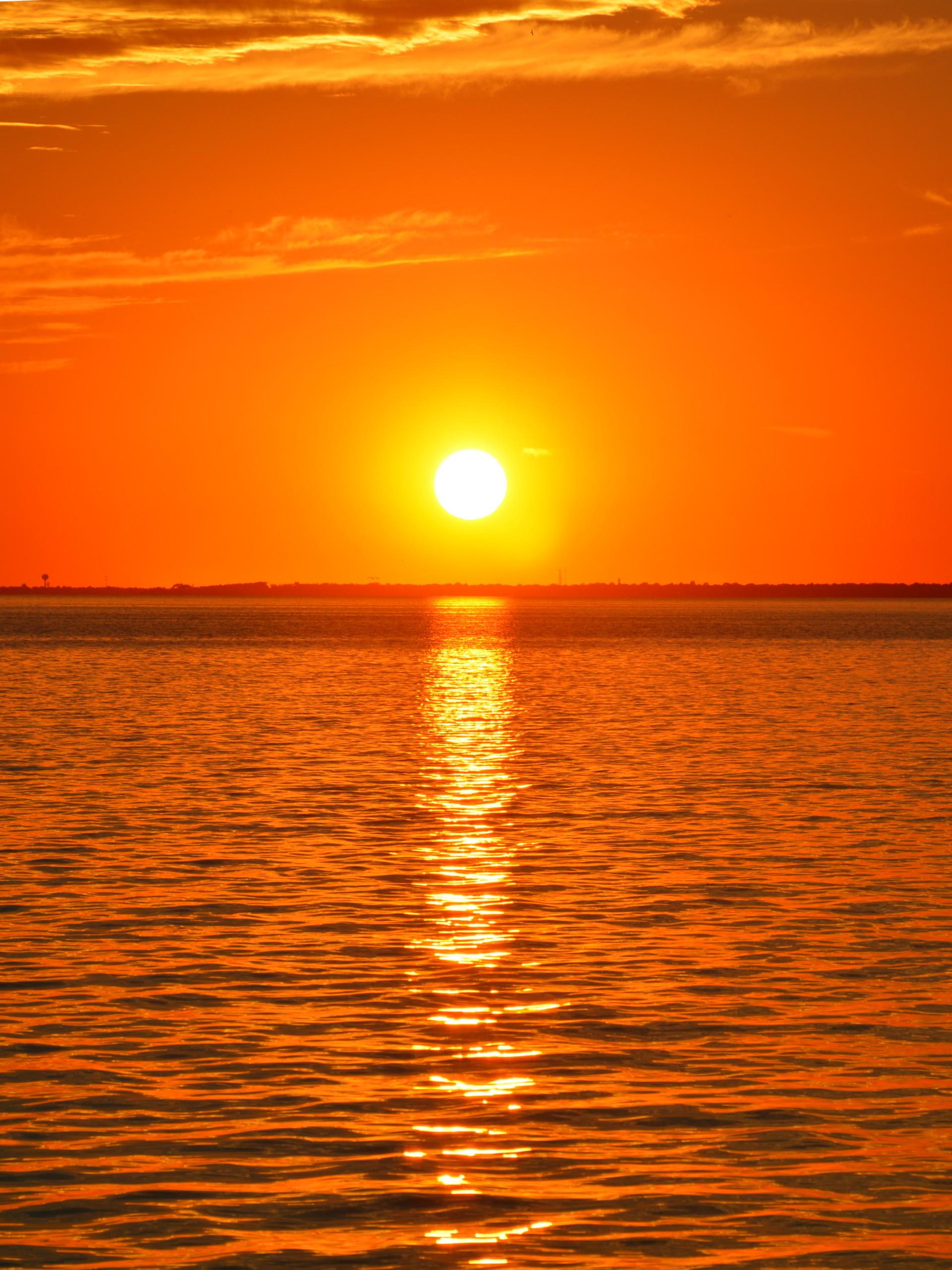 Dramatic sky over sea | sunset, dusk, nature, nobody