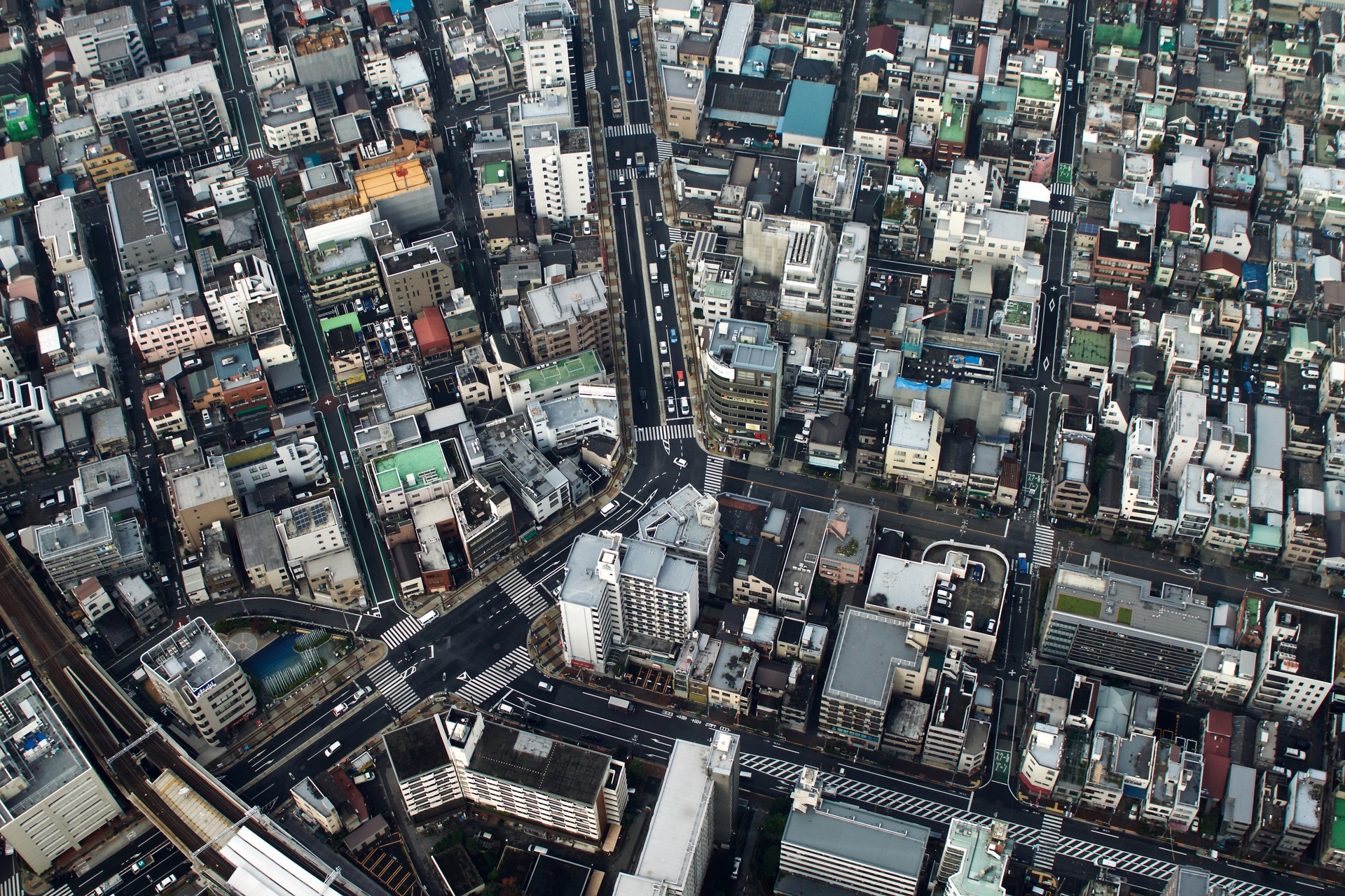 Tokyo seen from 350 meters above at SkyTree