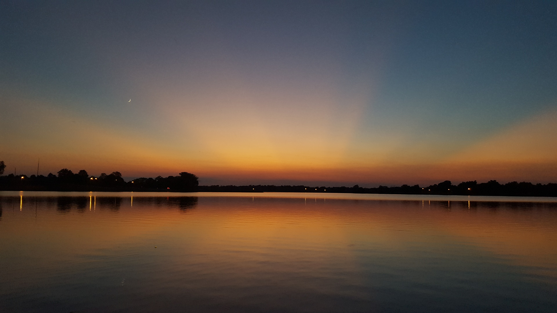 Sunset at Purcell City Lake, Purcell, Ok