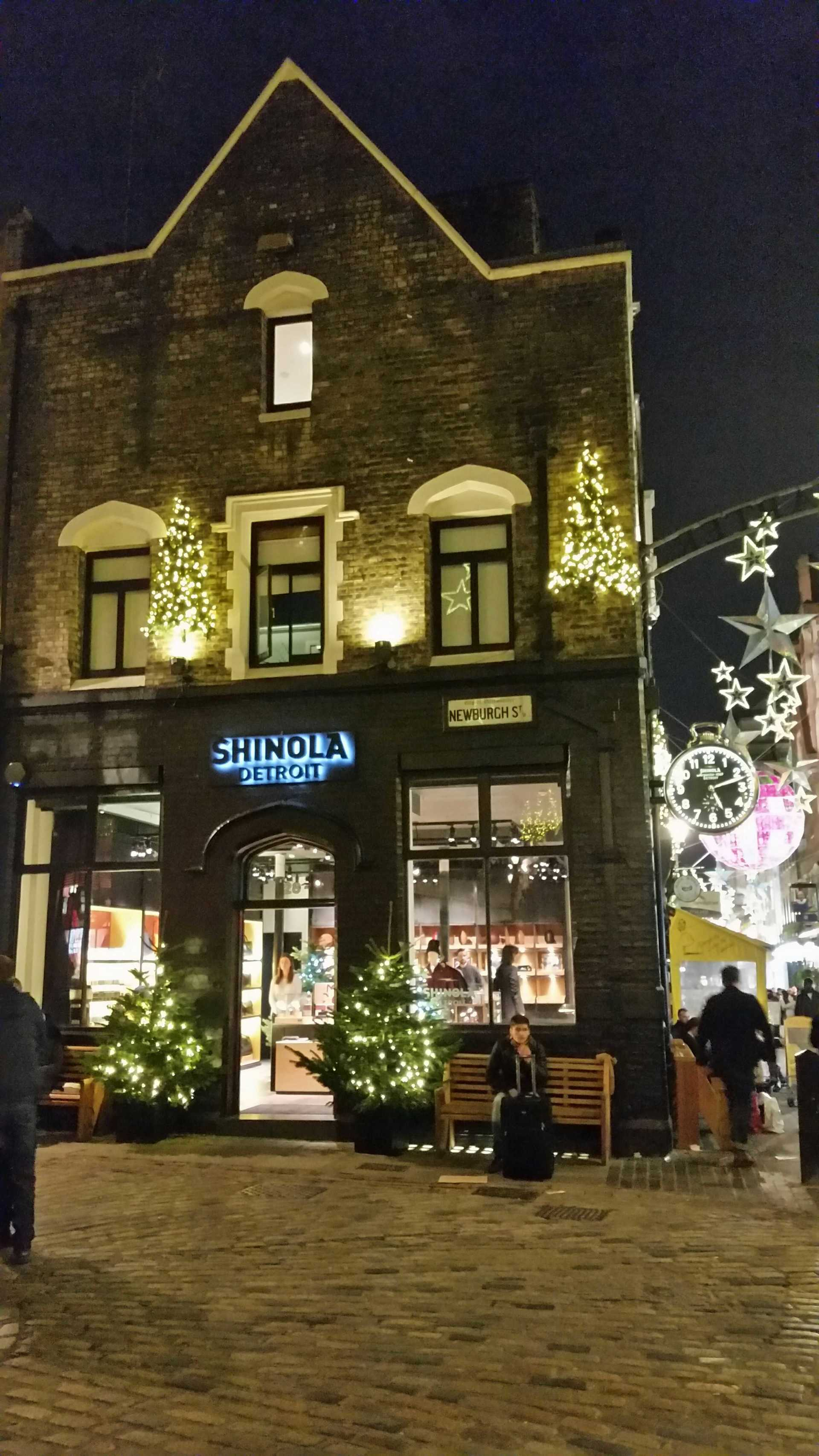 Shinola Store in London at Christmas