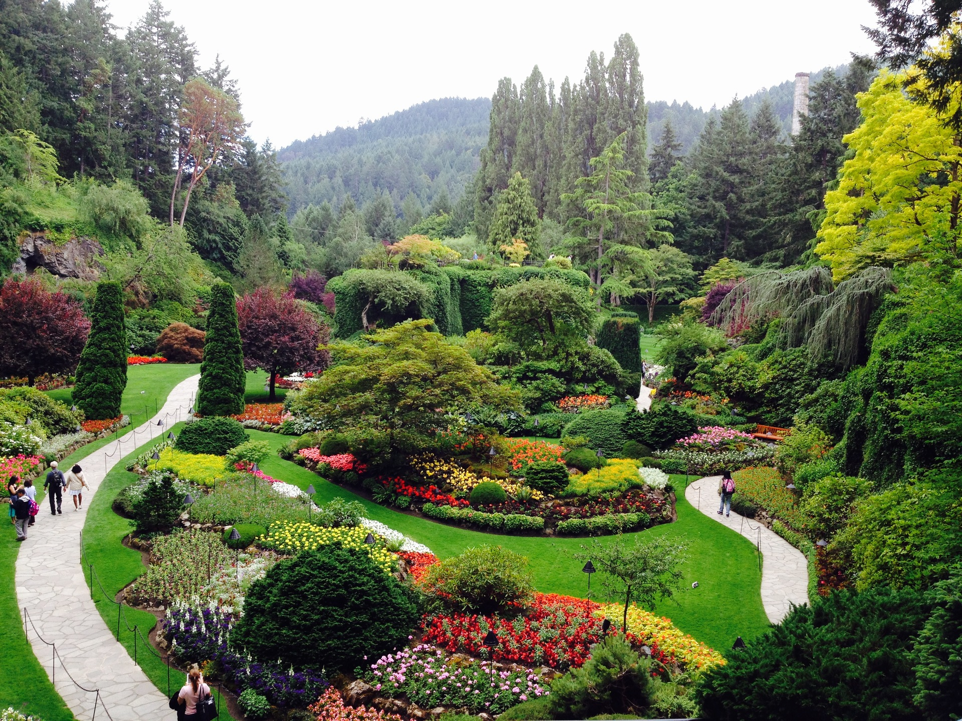 Grand Garden. Butchart Gardens in Brentwood Bay, Canada