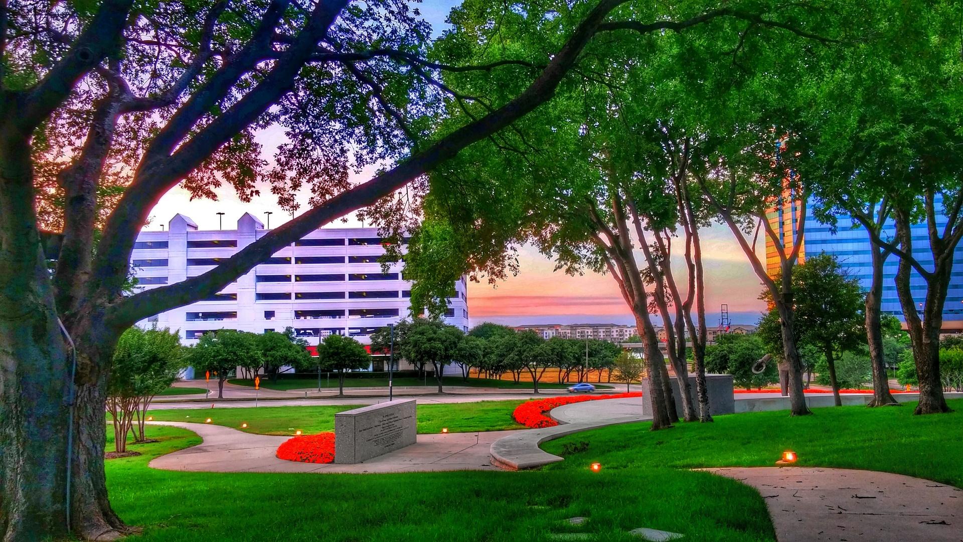 Ben Carpenter Park   jim.olive.54, sunset, trees, buildings