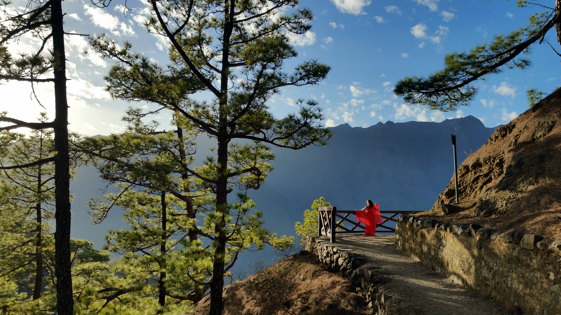 """Red desire. """"She in red"""" is a personal Photo project. This location is """"Caldera de Taburiente"""" National Park. At La Palma island."""