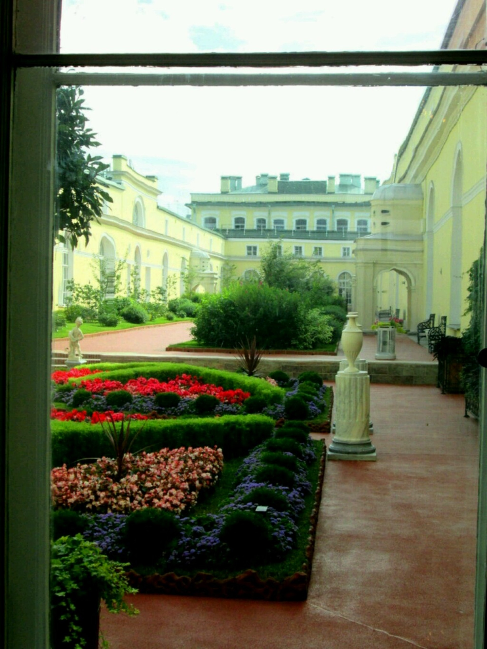 hermitage garden   nbraver100, flowers, palace, museum