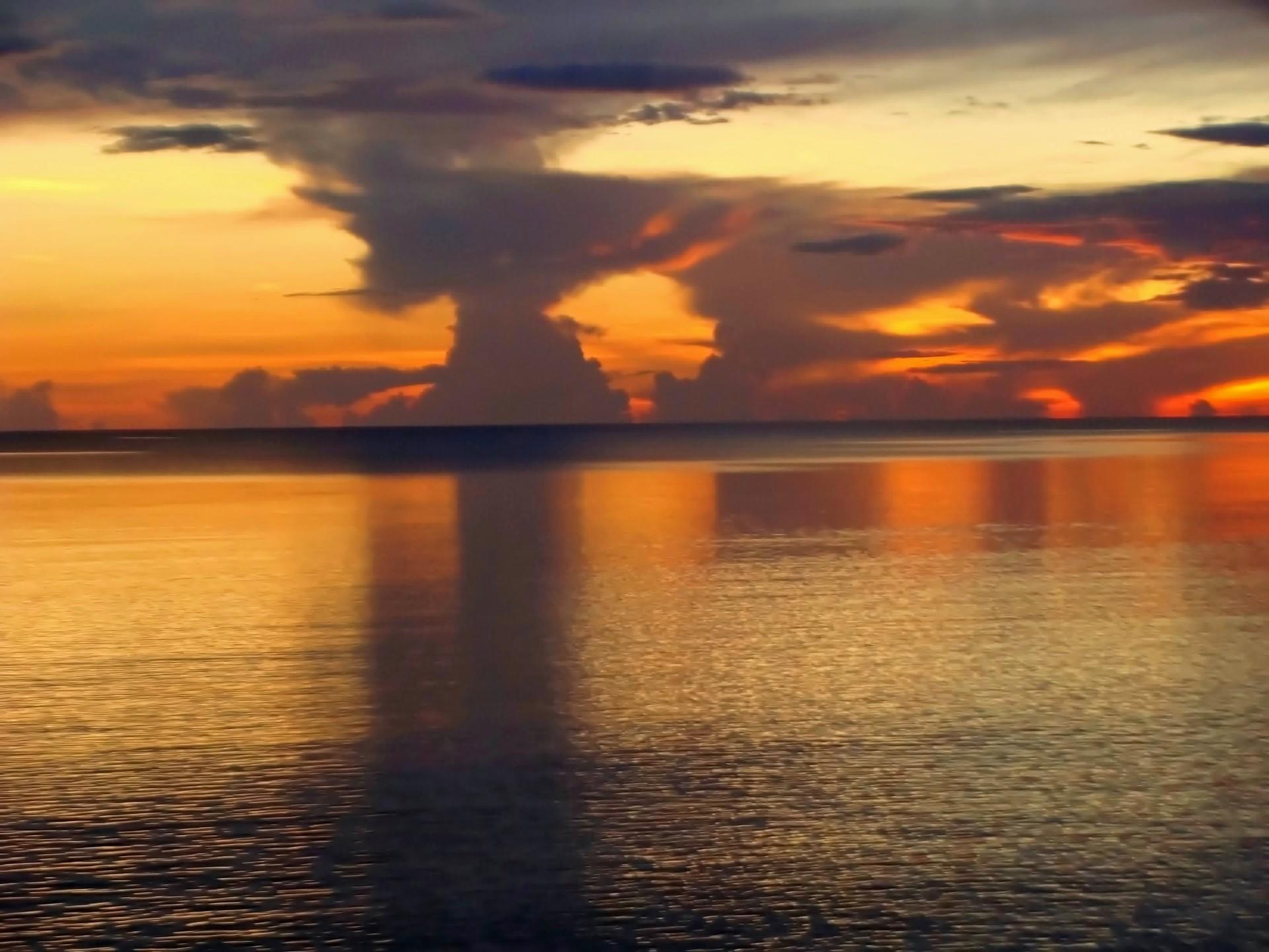 Beautiful Brilliant Sunset | jacquelin, sunset, sea, evening