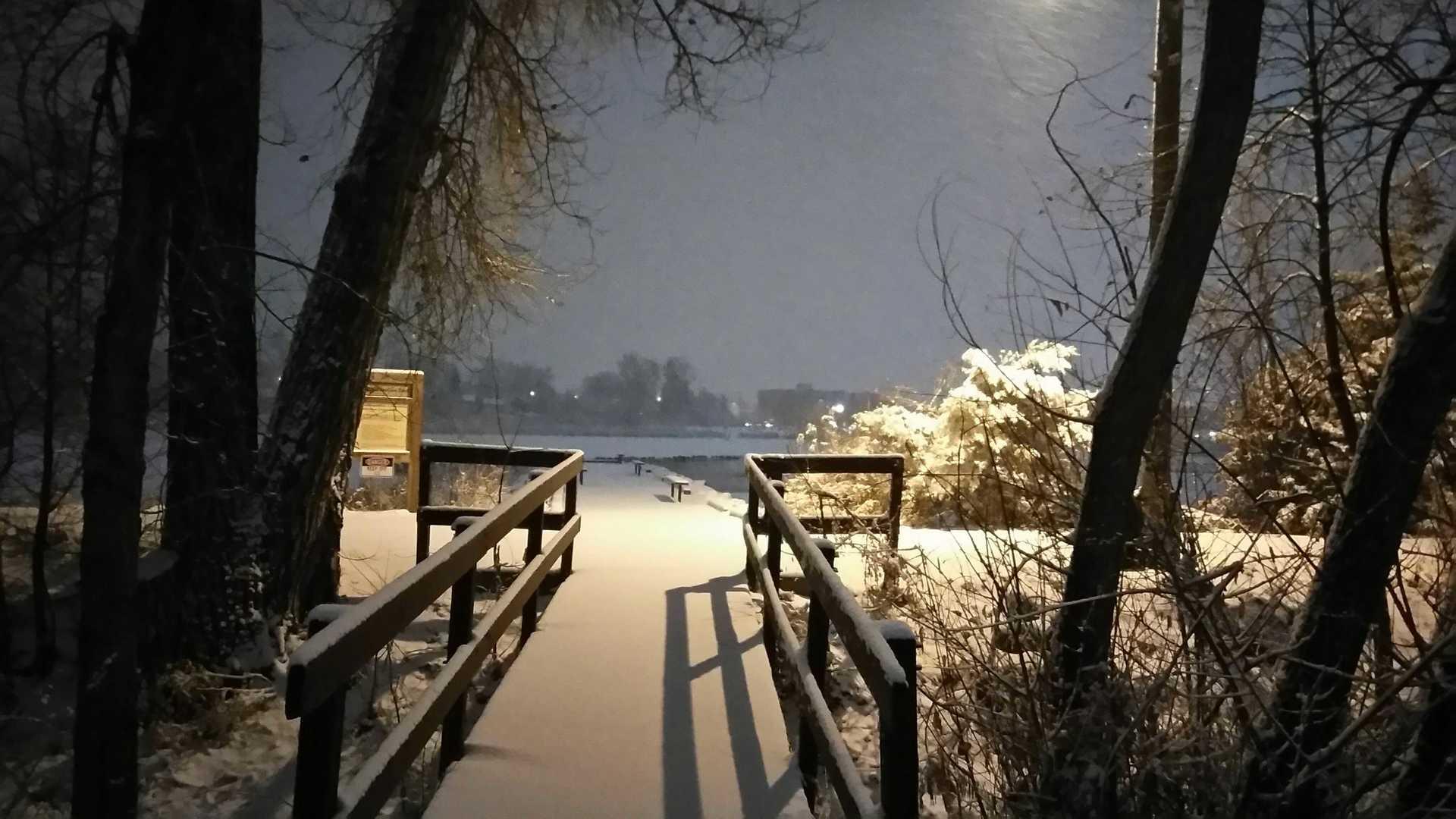snowy morning | christinaphotos, bridge, landscape, light