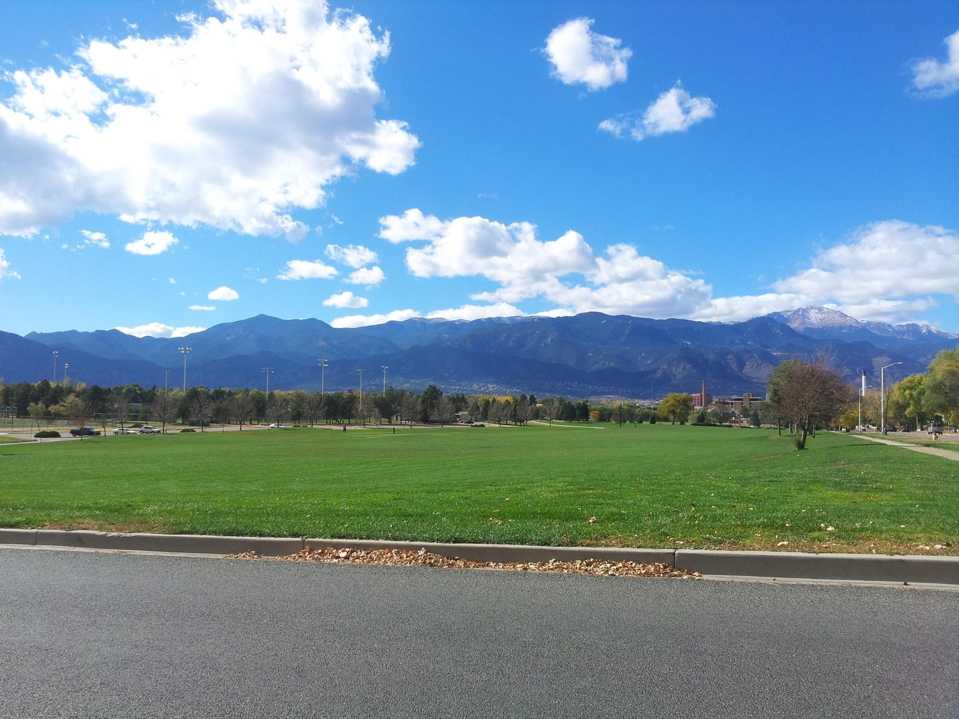View of pikes peak from Colorado Springs, Colorado