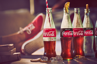 Enjoying the game with Coca-Cola! example photo